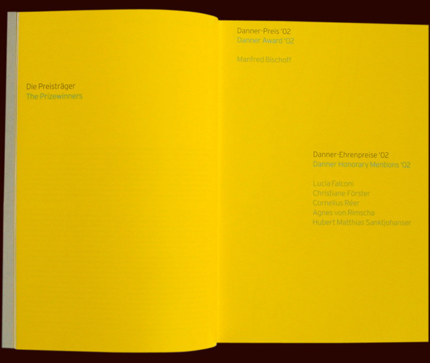 chapter opener from the danner stiftung (foundation) art catalogue, arnoldsche publishers - esther mildenberger, envision+