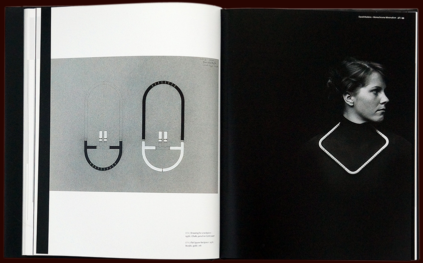 book for david watkins' oevre - artist in jewellery – inside pages - esther mildenberger, envision+