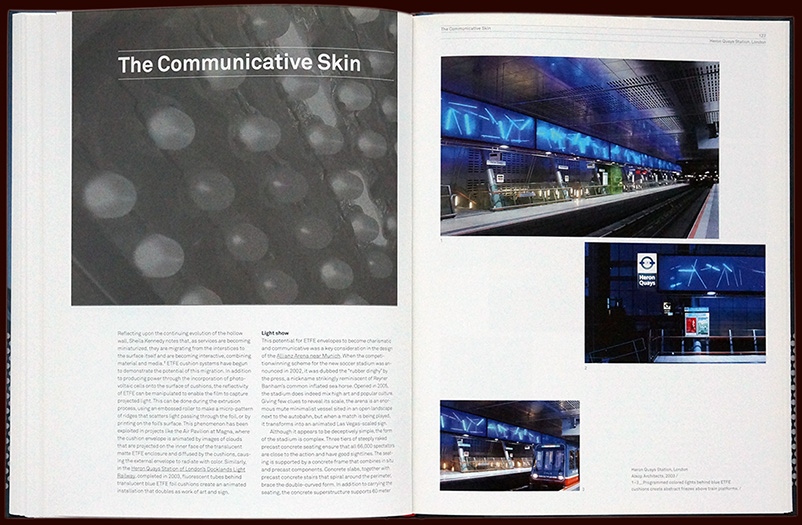 inside pages from the book etfe for birkhäuser publishers – esther mildenberger, envision+
