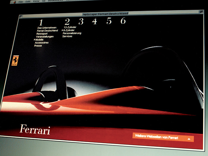 corporate website for ferrari, implemented internationally - brian switzer, envision+