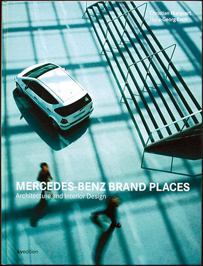corporate publishing buch – brand places – für mercedes-benz, avedition, stuttgart - esther mildenberger, envision+