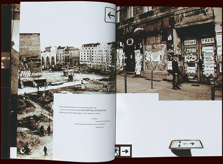 inside pages from the memory:city:berlin book project on urban landscapes - esther mildenberger, envision+