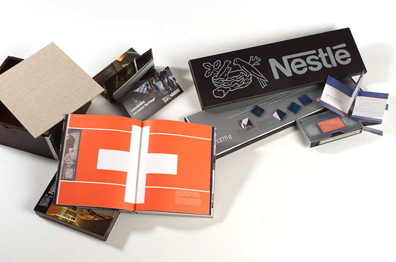 nestle book, film and printed matter to commemorate their headquarter building renovation - esther mildenberger, envision+