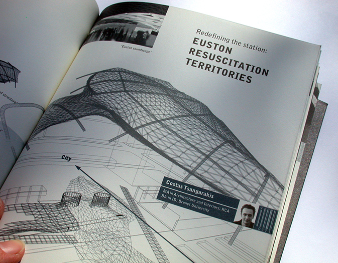 rca architecture catalogue - infinity-ville - inside page detail - with nigel coates - esther mildenberger, envision+