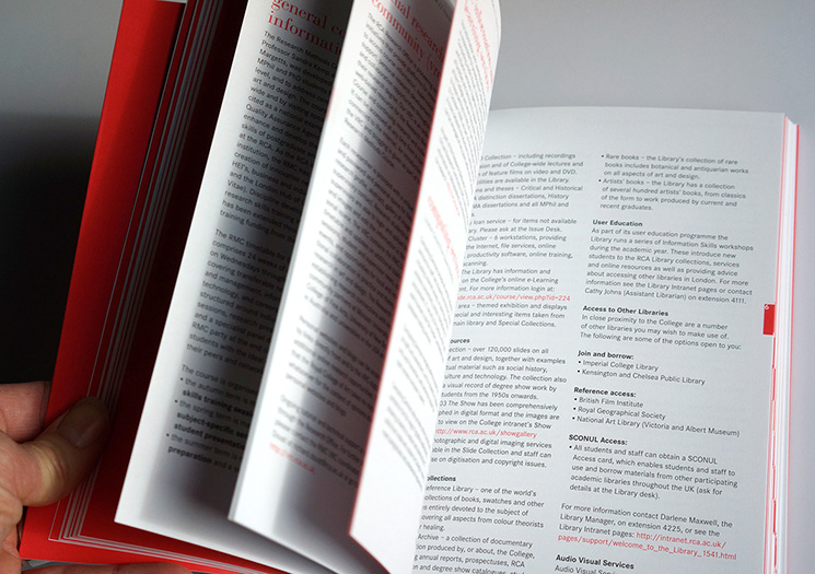 detail, research handbook, royal college of art, london - esther mildenberger, envision+